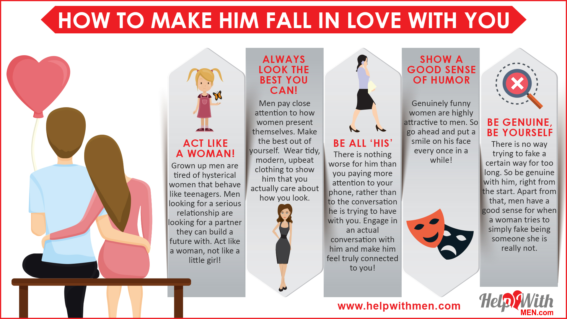 make him fall in love with you - ten tips