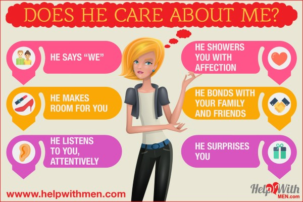 woman teaches ways to see if a man cares deeply about a woman