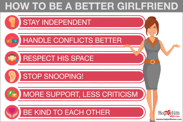 how to be the best girlfriend to your boyfriend infographic