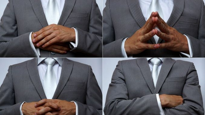 hand postures as nonverbal communication