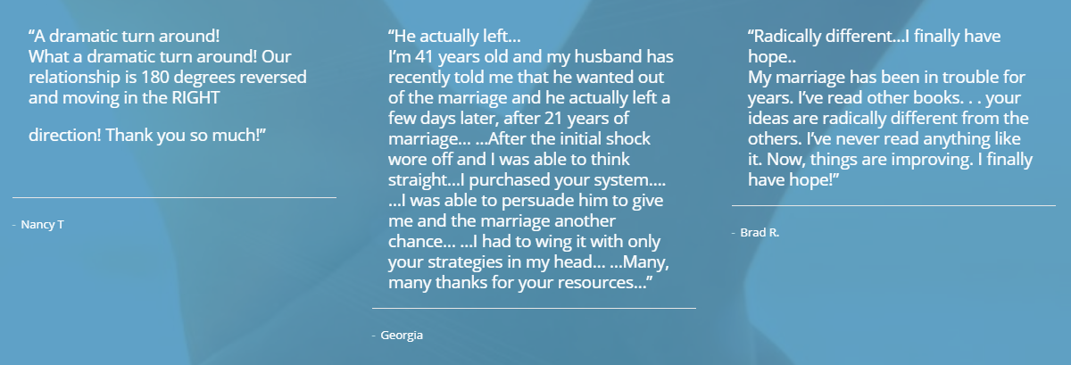 Save The Marriage System Testimonials
